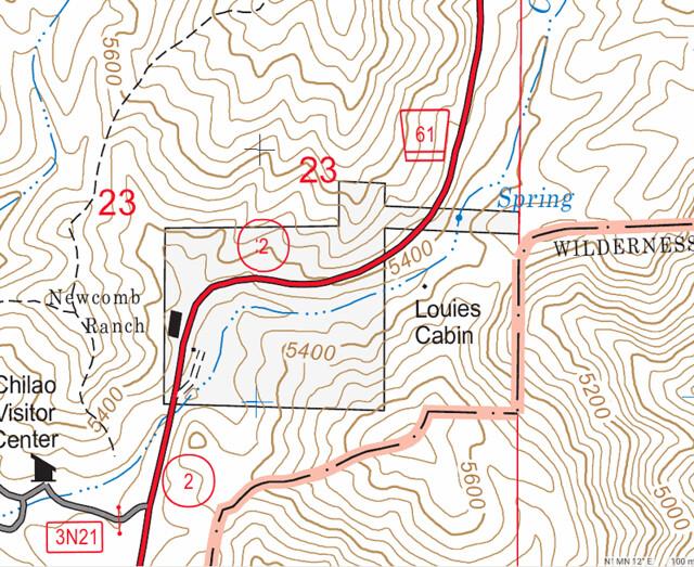 Louies Cabin Map