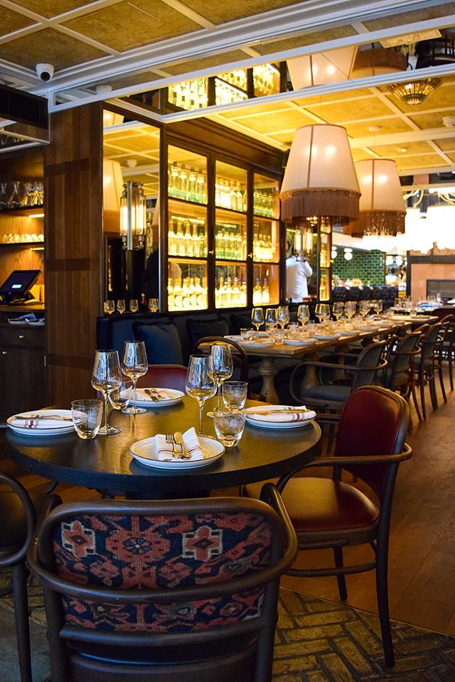 Dining Room at Hovarda, Soho #greek #turkish #london #soho