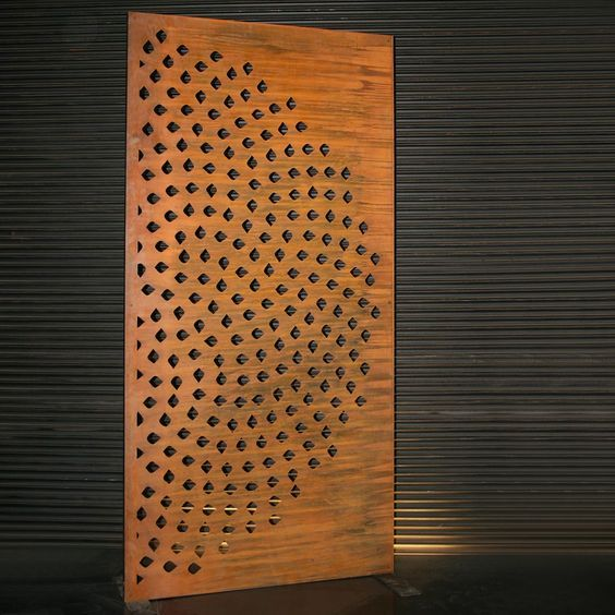 LASER CUT PATTERNS on main doors