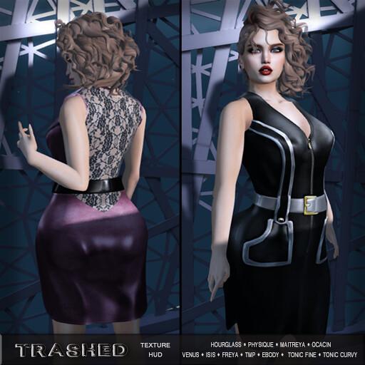 <T>vanity dress with hud