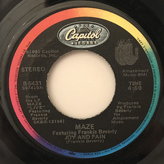 MAZE FEATURING FRANKIE BEVERLY:BACK IN STRIDE(LABEL SIDE-B)