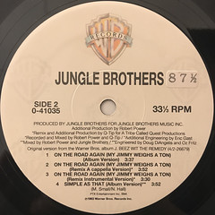 JUNGLE BROTHERS:ON THE ROAD AGAIN(LABEL SIDE-B)