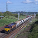 2PEN4102 66158 on 6V03 Wembley-Cardiff Docks approaching the Severn Tunnel.  26th April 2018 time 16:57