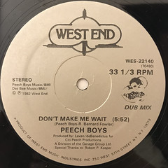 PEECH BOYS:DON'T MAKE ME WAIT(LABEL SIDE-B)