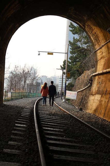 16폐선 구터널 구간.
