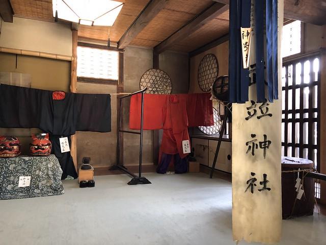 岩村 木村邸 土蔵1階 神輿行列衣装 IMG_0347