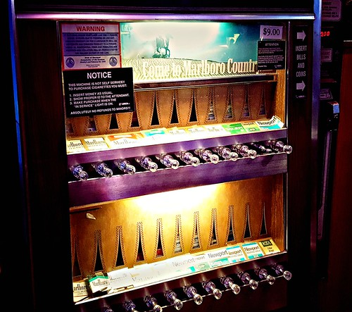 Cigarette vending machine - haven't seen that in a while