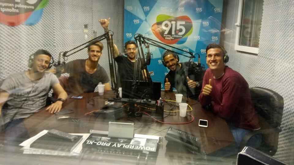 Οι αργεντίνοι του Αστέρα παίζουν μουσική στη Δημοτική Ραδιοφωνία Τρίπολης!