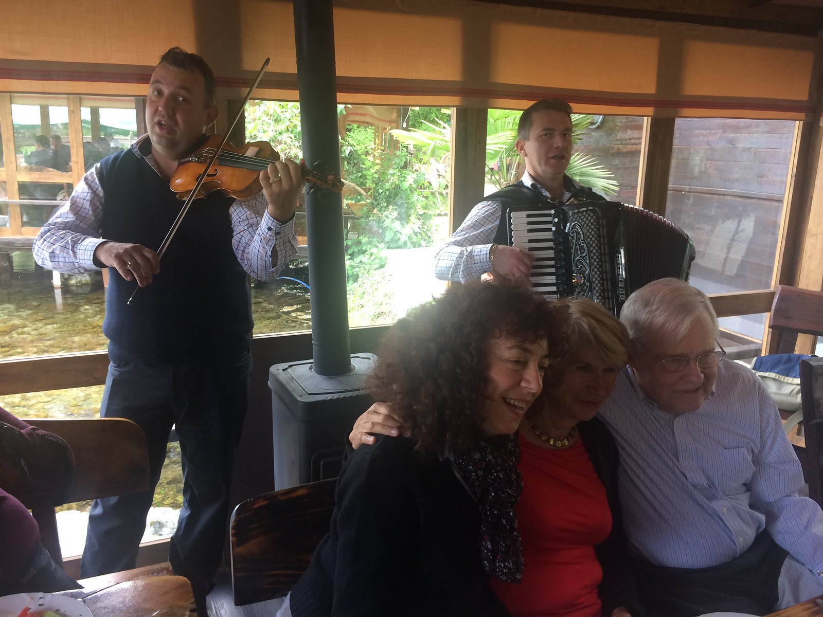 201705 - Balkans - Macedonian Folk Songs at Lunch, Zdenka, Maria and Don - 75 of 101 - Nacionalen Park Galicica - Ohrid, Ohrid, May 28, 2017