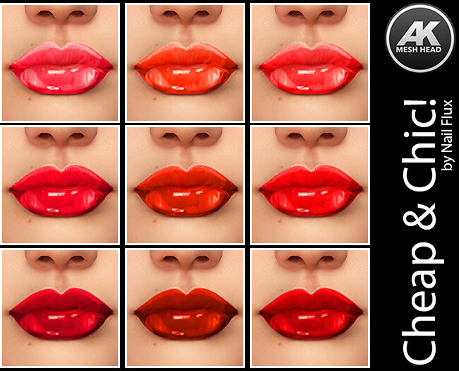 Cheap & Chic! Lipstick Glossy The Reds [AK Mesh Heads]