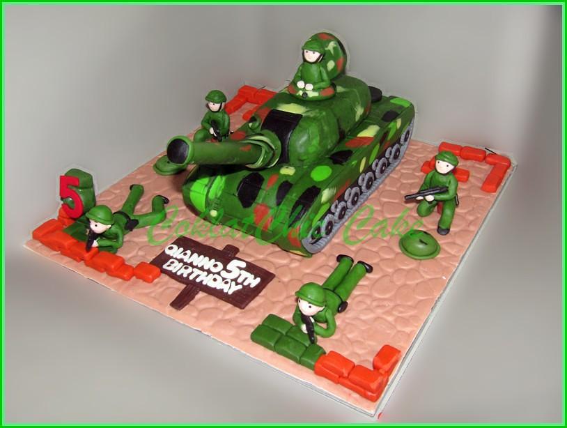 Cake Army Tank QIANNO 15 cm