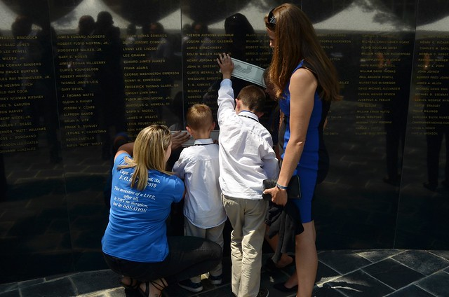 Fallen Deputy's family members at the FSA Memorial