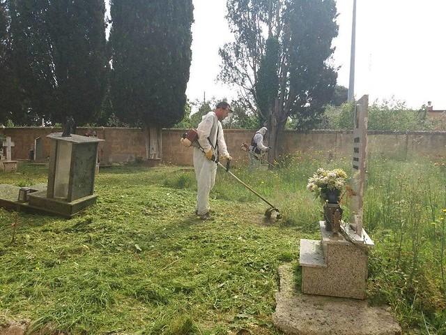 taglio erba cimitero