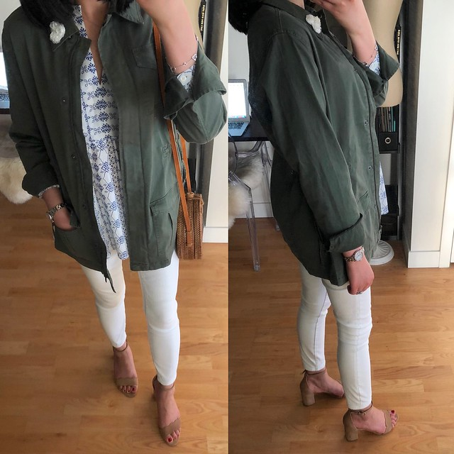 A New Day Women's Military Jacket in olive, size XS