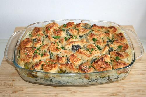 55 - Chicken Alfredo Bubble Up with garlic & spinach - Finished baking / Hähnchen Alfredo Bubble Up mit Knoblauch & Spinat  -  Fertig gebacken