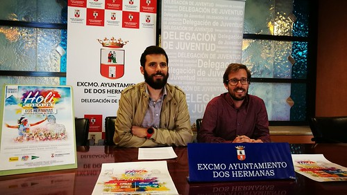 Presentación del Holi Cololours Dos Hermanas Juan Pedro Rodríguez y Francisco Toscano Rodero