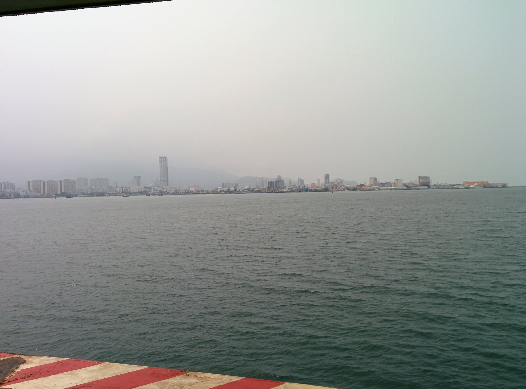 A hazy Penang from the ferry
