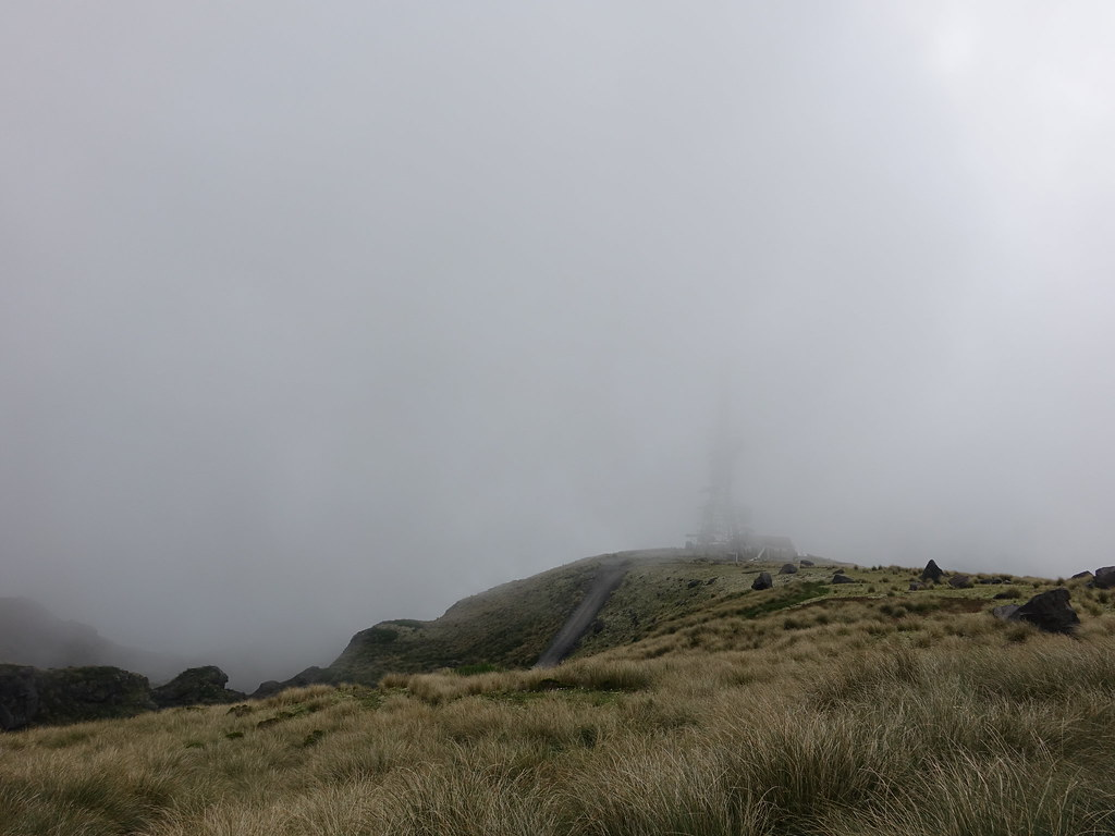 In the cloud on Mount Taranaki