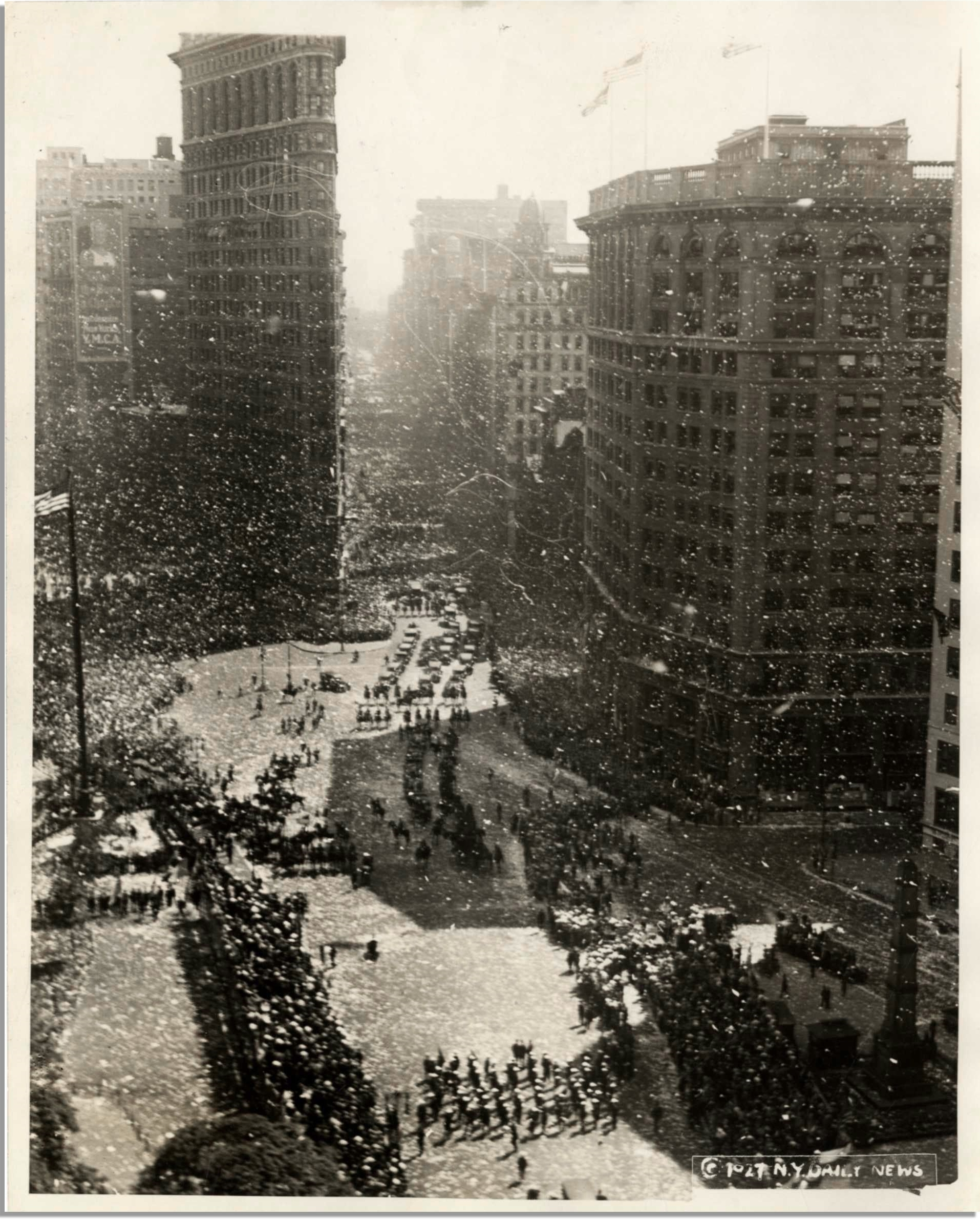 The Welcome Parade for Charles Lindbergh in New York City, June 13, 1927.