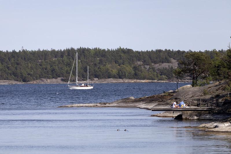 Sail boat at Knappelskär