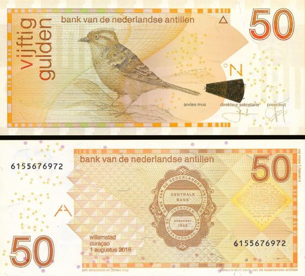 50 Guldenov Holandské Antily 2016, P30h