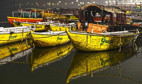 Sleeping Armada Ganges Varanasi DSC_7909