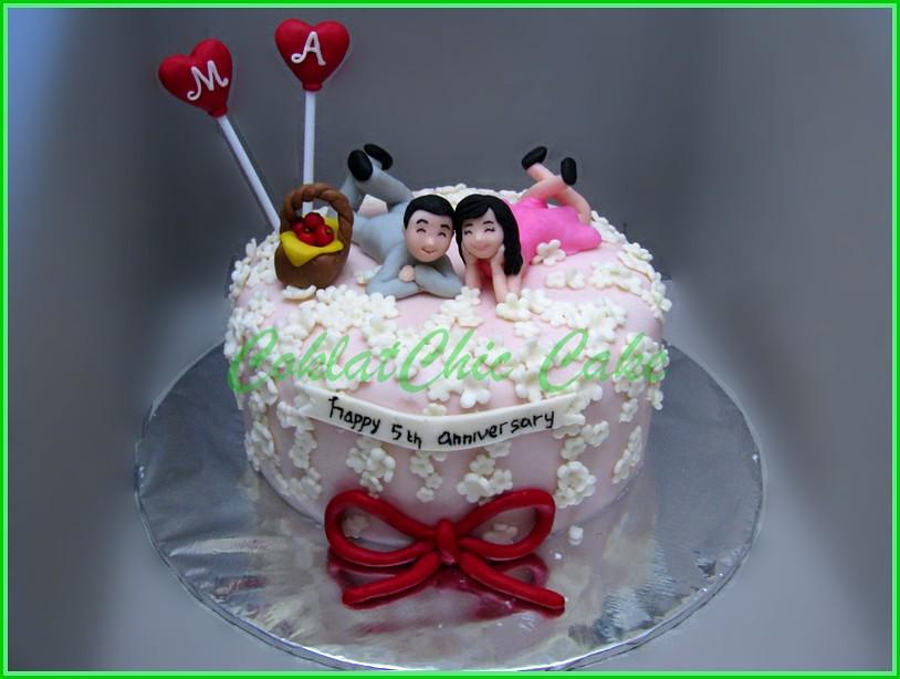Cake couple Anniversary 15 cm