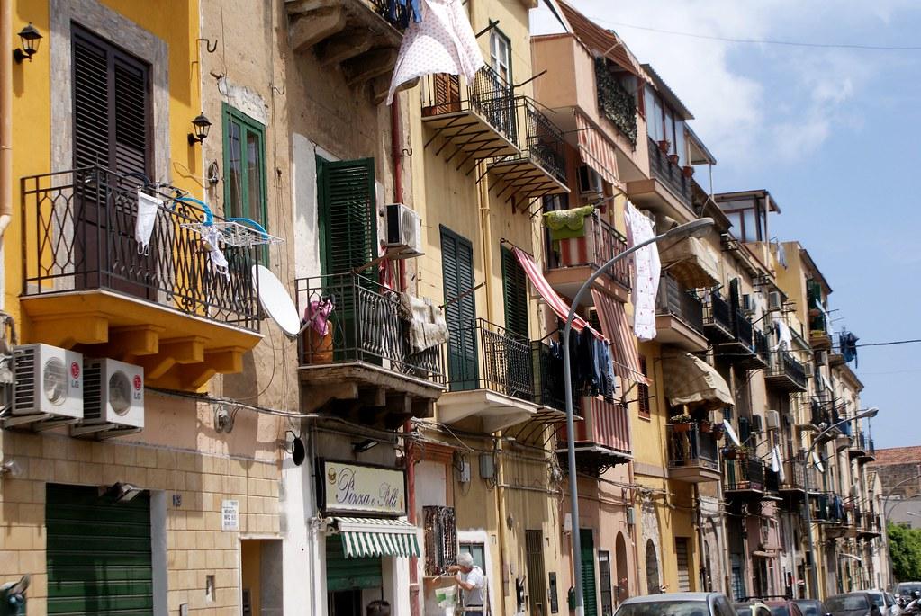 Dans le quartier de la Zisa à Palerme.