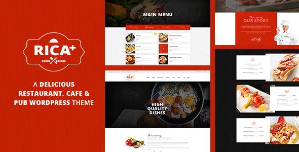 Rica Plus v1.6 – A Delicious Restaurant, Cafe & Pub WP Theme