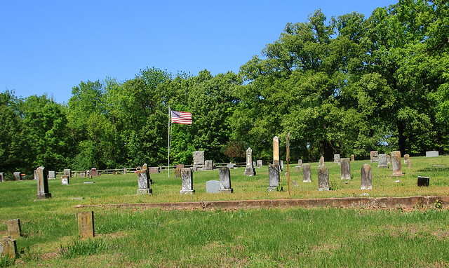 Old Gravestone, Goad Springs Cemetry - West of Springdale in Washington County, Arkansas