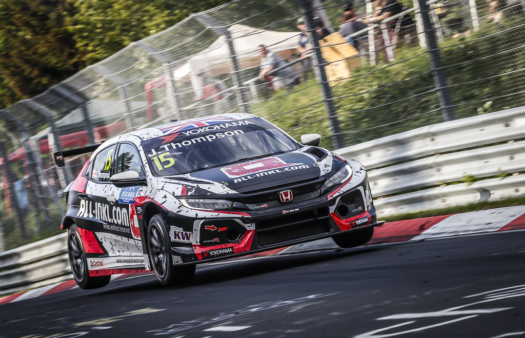 15 THOMPSON James (GBR), ALL-INKL.COM Munnich Motorsport, Honda Civic TCR, action during the 2018 FIA WTCR World Touring Car cup of Nurburgring, Nordschleife, Germany from May 10 to 12 - Photo Francois Flamand / DPPI