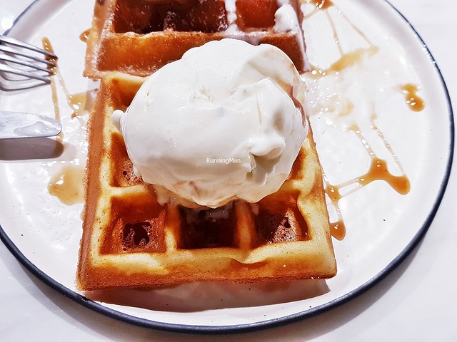 Waffles With Ice Cream Raw Honey Lavender