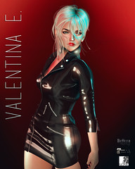 NEW! Valentina E. Dahlia Latex Dress @ Romp!