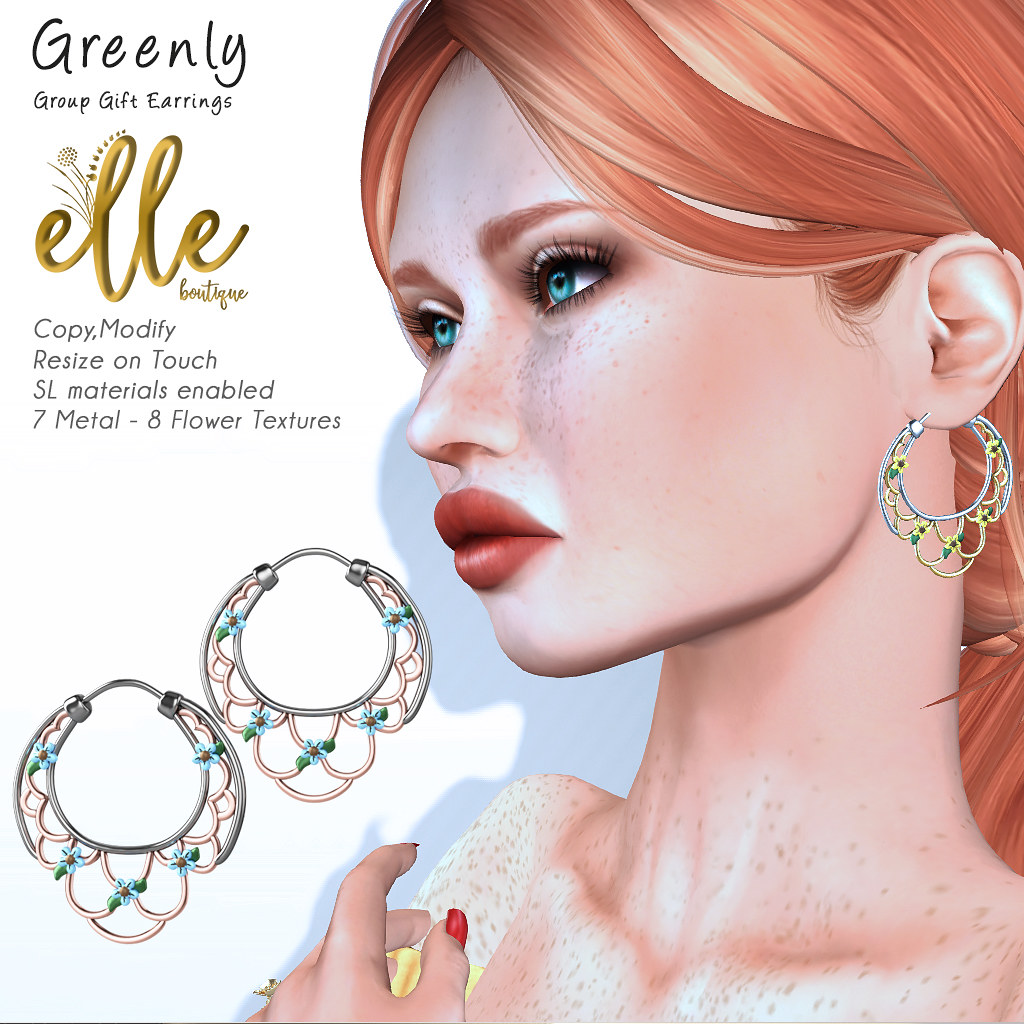 Elle Boutique - Greenly Earrings Group Gift - TeleportHub.com Live!