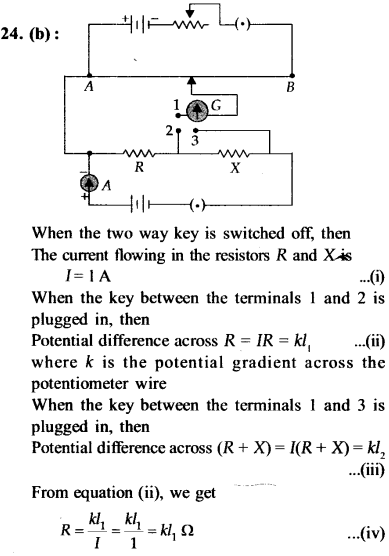 NEET AIPMT Physics Chapter Wise Solutions - Current Electricity explanation 24
