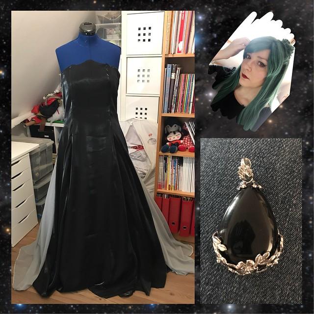 Princess Pluto dress work in progress