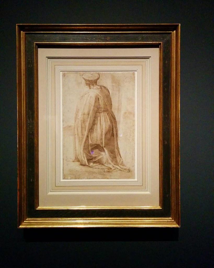 Study of a Kneeling Man Seen From the Rear #newyorkcity #newyork #metmichaelangelo #michaelangelo #drawing #latergram