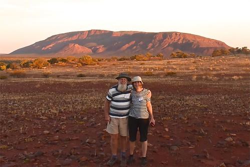 Paul & Jill Weaver sunset at Mt Augustus 8 May 2018