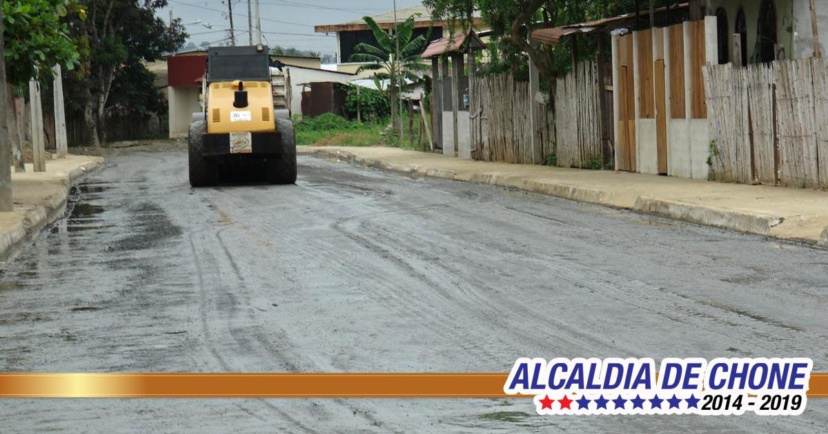 Mejoras de la calle Gonzalo Rivadeneira