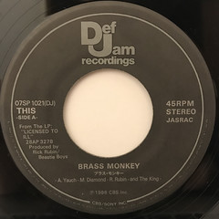 BEASTIE BOYS:BRASS MONKEY(LABEL SIDE-A)