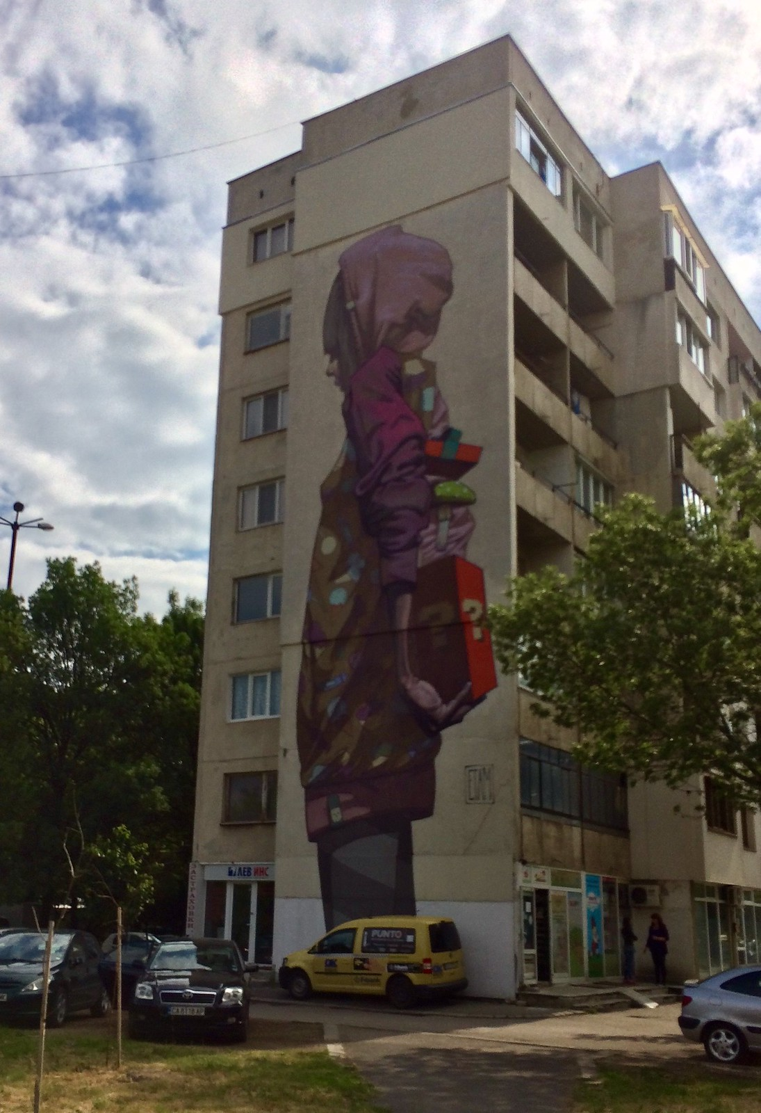 201705 - Balkans - Full Building Figures Graffiti - 23 of 46 - Sofia - zhk Hadzhi Dimitar - ulitsa Ostrovo, May 22, 2017