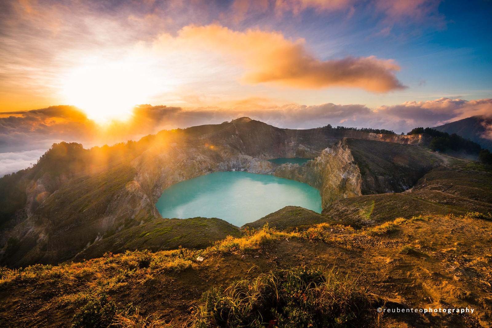 Sunrise at Kelimutu Crater Lake, Flores