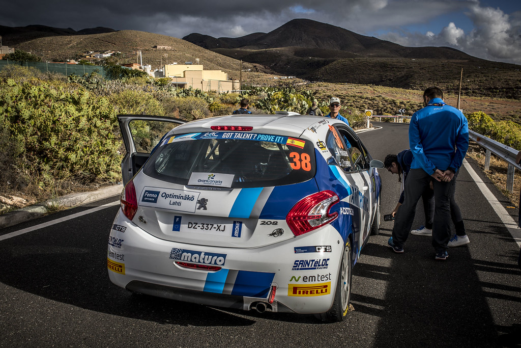 38 HOKKANEN Mika, PASENIUS Jukka, Peugeot 208 R2, action during the 2018 European Rally Championship ERC Rally Islas Canarias, El Corte Inglés,  from May 3 to 5, at Las Palmas, Spain - Photo Gregory Lenormand / DPPI