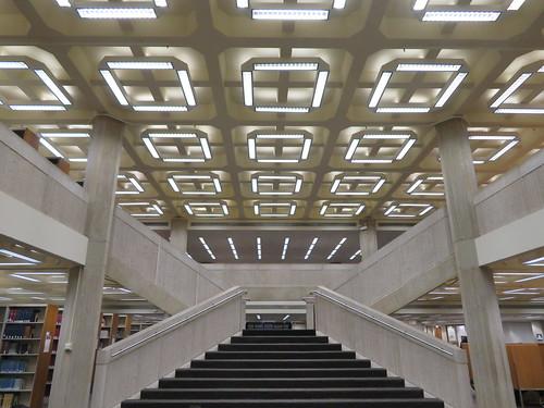 University of Chicago Regenstein Library Stairway
