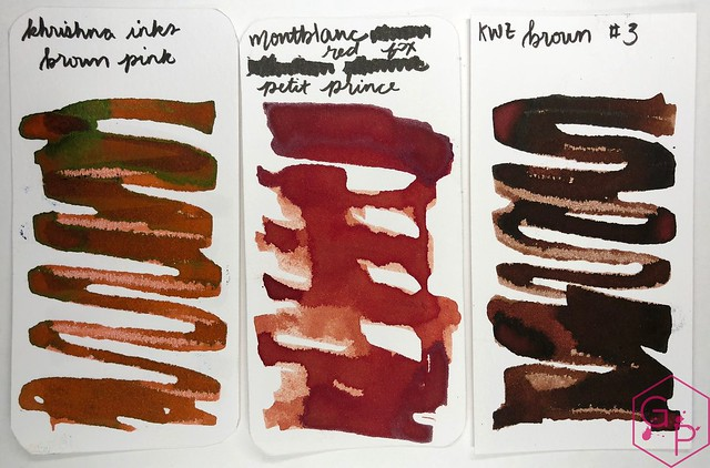 Krishna Inks Brown Pink Fountain Pen Ink Review @PenChalet 4