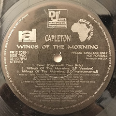 CAPLETON:WINGS OF THE MORNING(LABEL SIDE-B)