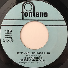 JANE BIRKIN & SERGE GAINSBOURG:JE T' AIM... MOI NON PLUS(LABEL SIDE-A)
