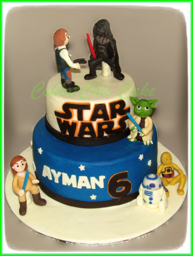 Cake Starwars AYMAN 15 /12 cm