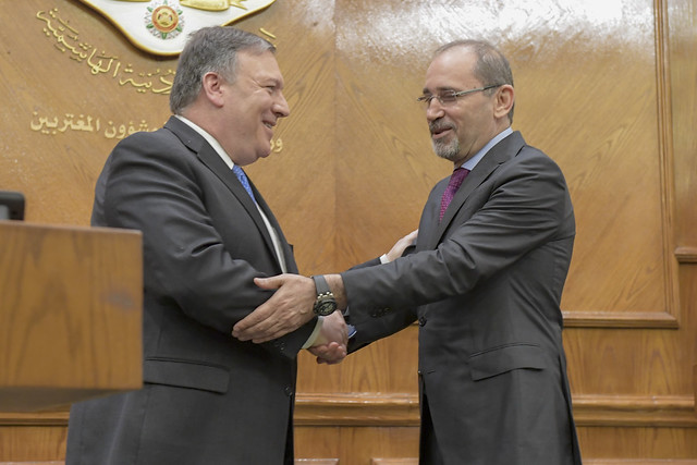 Secretary Pompeo Holds A Joint press availability with Jordanian Foreign Minister Safad