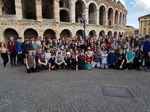 1st years at amphitheatre Verona